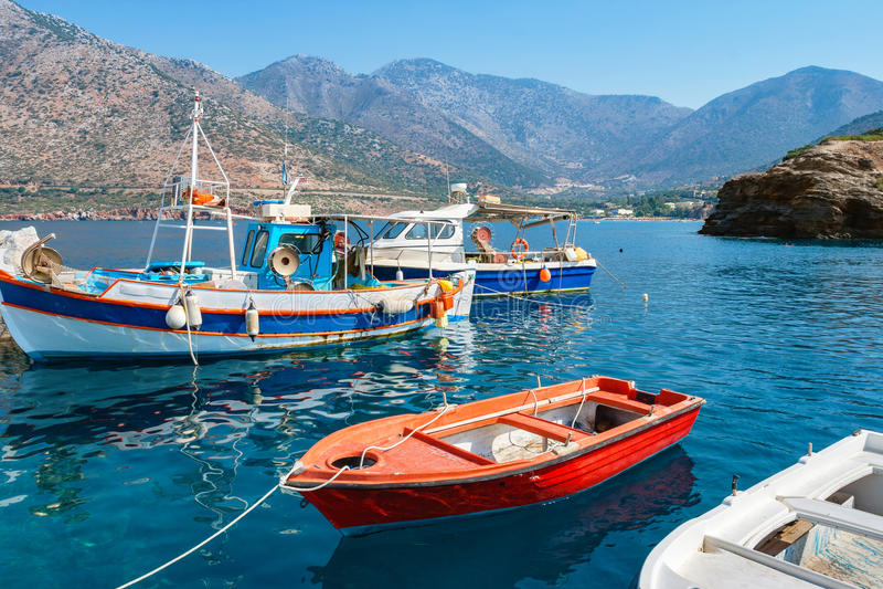 Гавань Бали Крит Греция стоковые фотографии rf