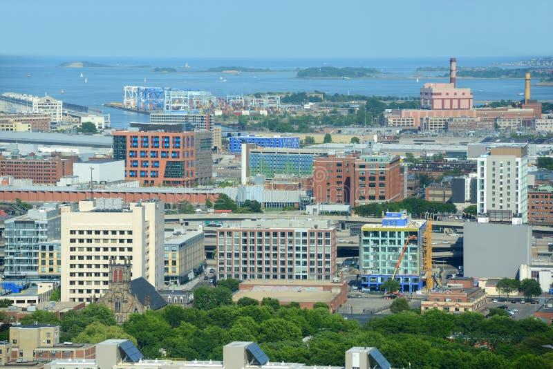 Гавань Бостона, Массачусетс, США стоковые фотографии rf