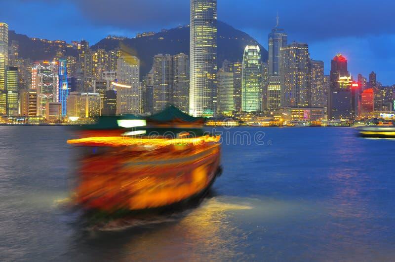 Гавань Виктории Гонконга стоковое фото rf