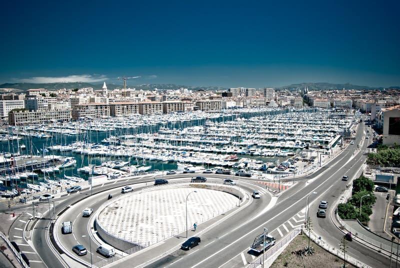 Гавань в Марсел стоковые фотографии rf