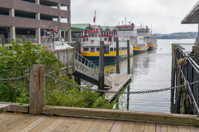 Гавань в Портленде стоковое изображение rf