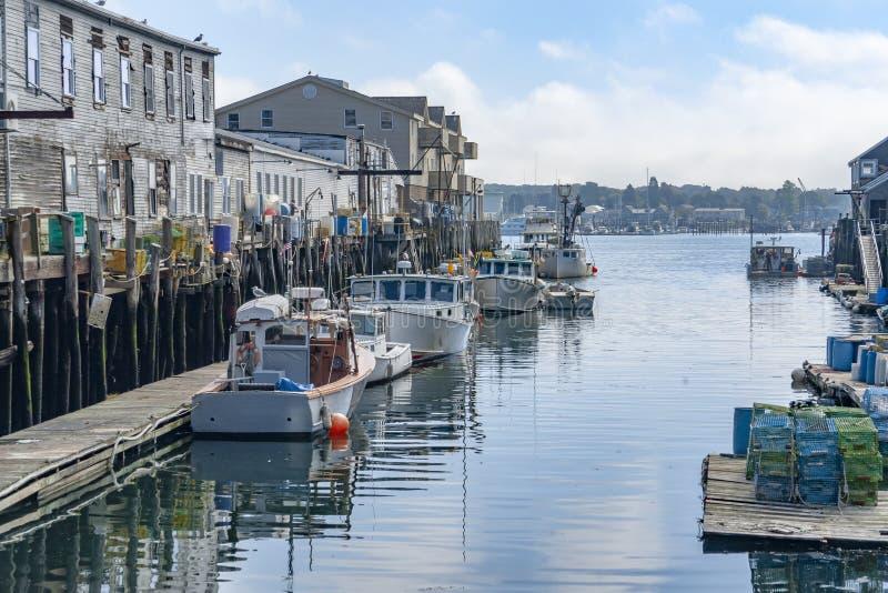 Гавань в Портленде стоковое изображение
