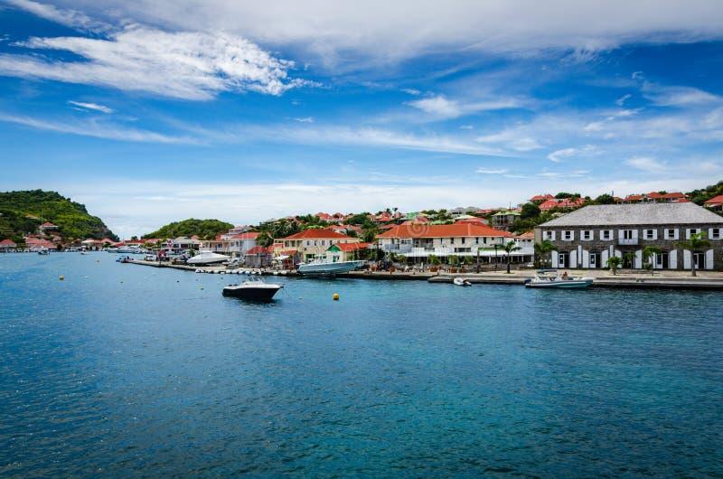 Гавань в Gustavia, Святом Barthélemy стоковая фотография rf