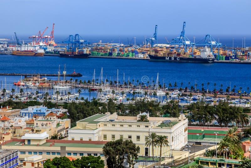 Гавань в Las Palmas de Gran Canaria. Испания стоковые фотографии rf