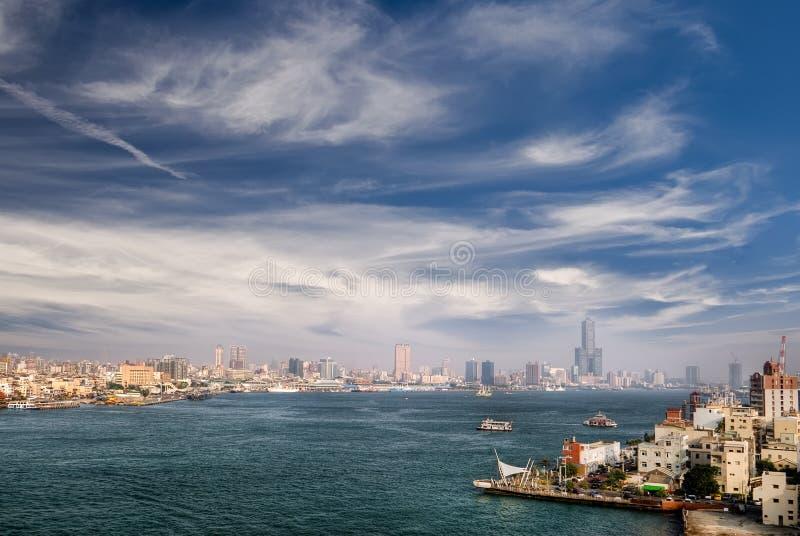 гавань города самомоднейшая стоковое изображение