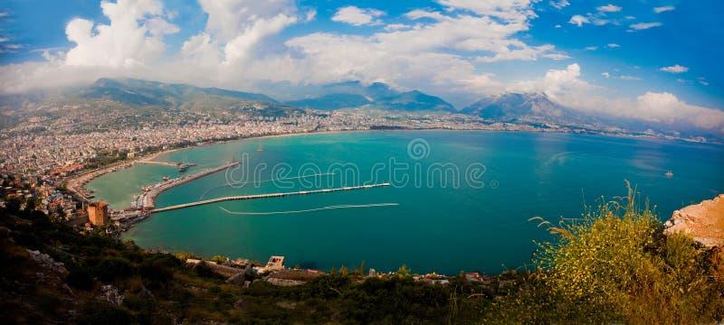 гавань города alanya стоковые фото