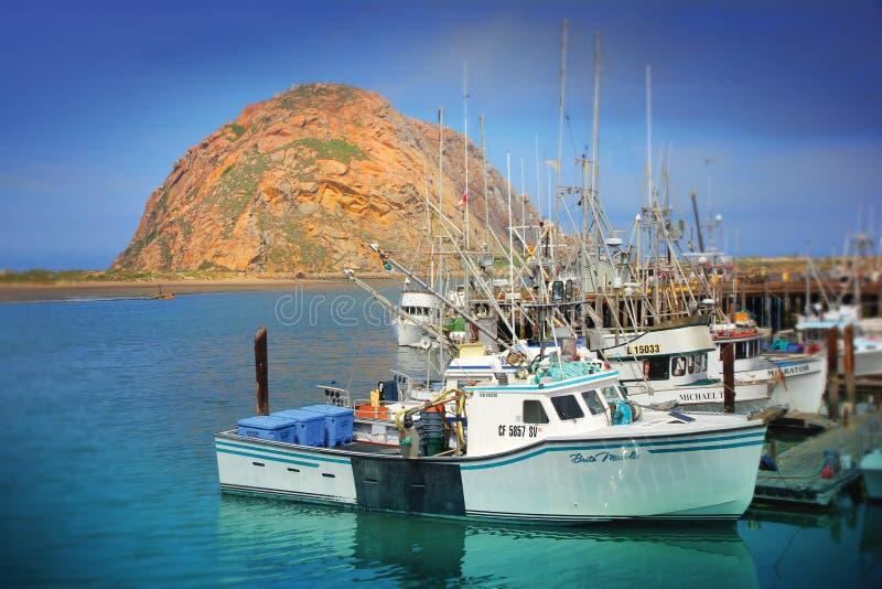 Гавань залива Morro, залив Morro - Калифорния стоковая фотография rf