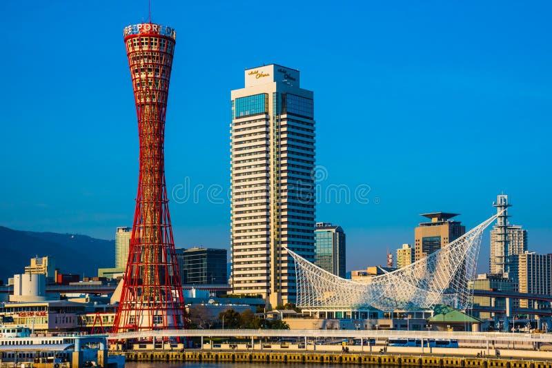 Гавань Кобе в Hyogo Японии стоковая фотография rf