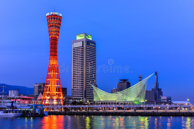 Гавань Кобе в Hyogo Японии стоковое фото
