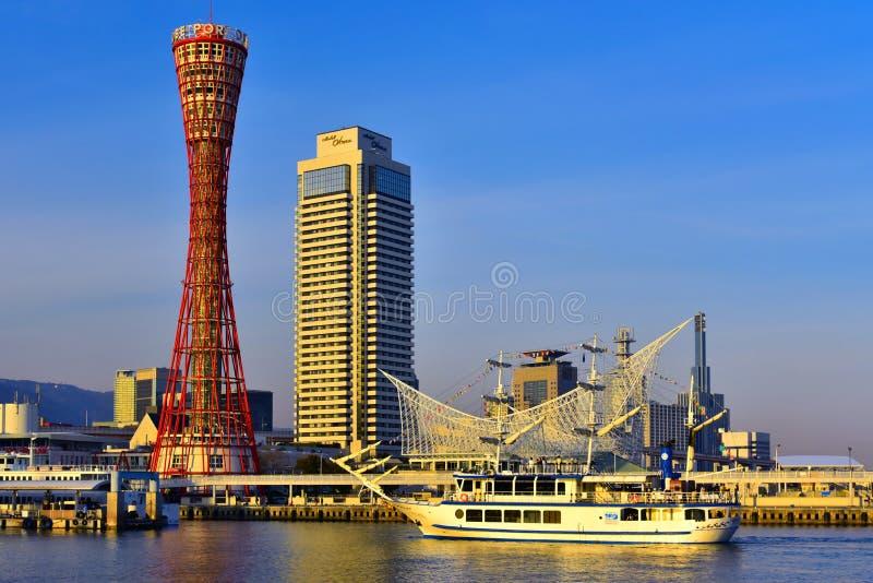 Гавань Кобе в Hyogo Японии стоковое фото rf