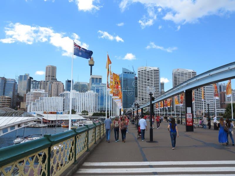 Гавань милочки моста Pyrmont, Сидней стоковое фото
