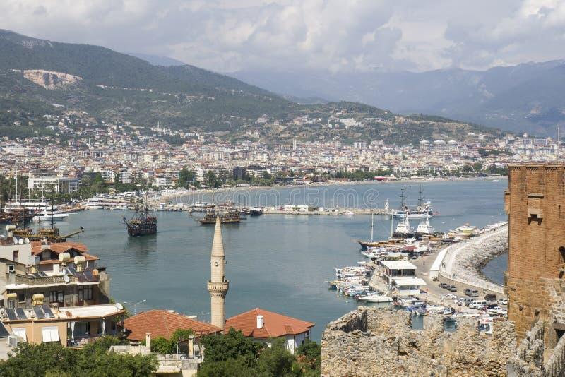 Гавань на Alanya турецкий riviera стоковые фотографии rf