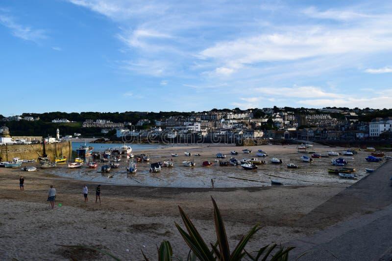 Гавань на St Ives, Корнуолле, Великобритании стоковое фото rf