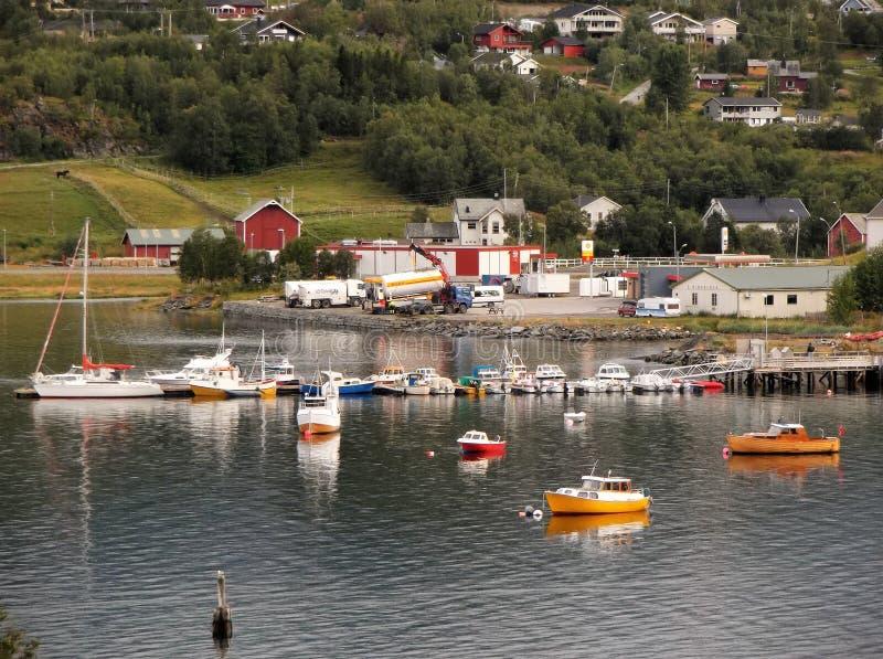 Гавань Норвегия 6 городка фьорда Talvik стоковое фото rf