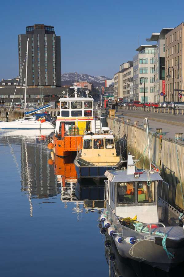 гавань Норвегия bodo стоковая фотография rf