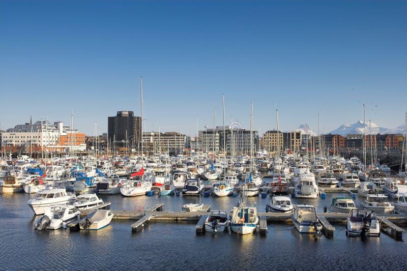 гавань Норвегия bodo стоковые изображения rf