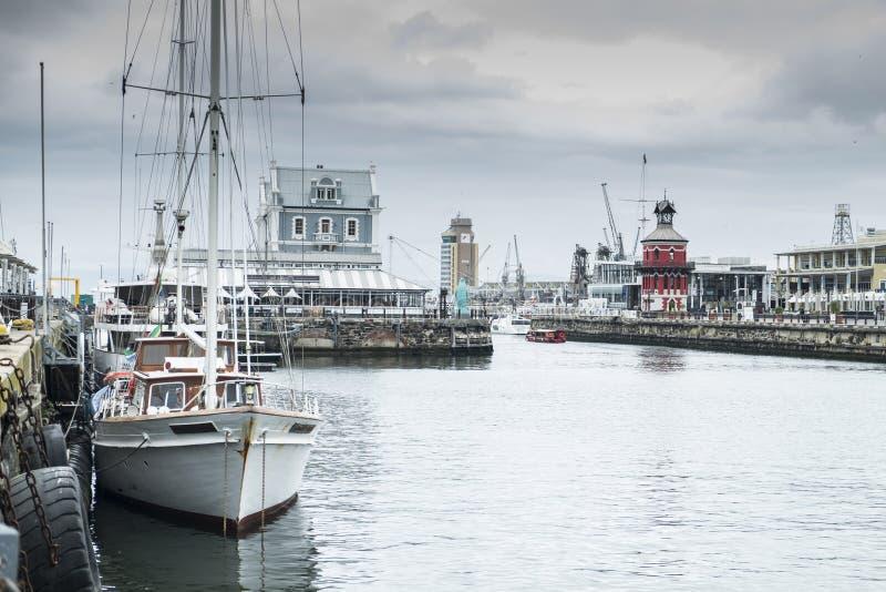 Гавань портового района в Кейптауне стоковое фото