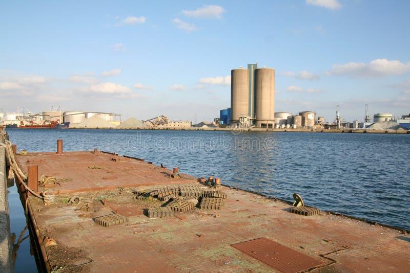 гавань промышленная стоковое изображение