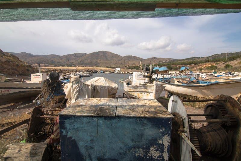 Гавань рыбной ловли Portman Cartagena Мурсия Испания стоковое фото