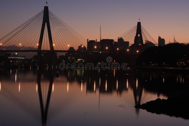 гавань Сидней моста Австралии anzac стоковая фотография rf