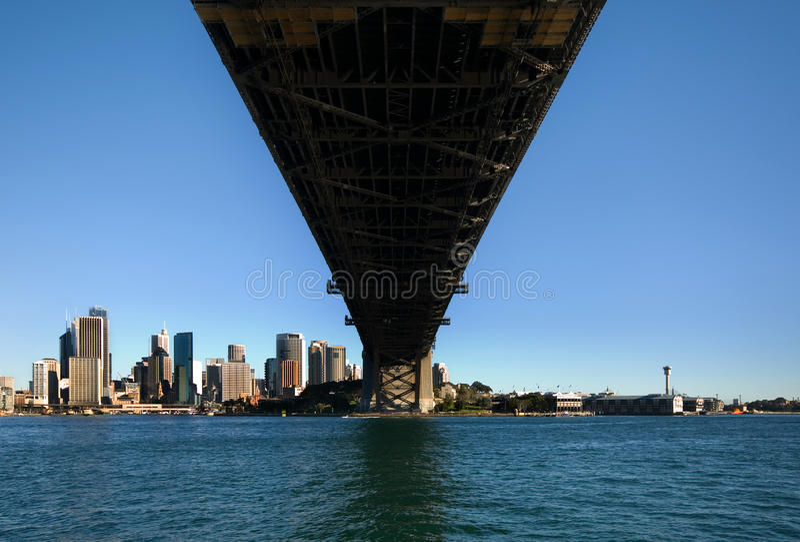 гавань Сидней cbd моста стоковые фотографии rf