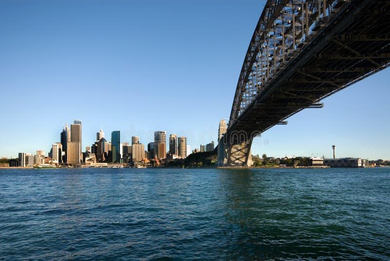 гавань Сидней cbd моста стоковое изображение rf