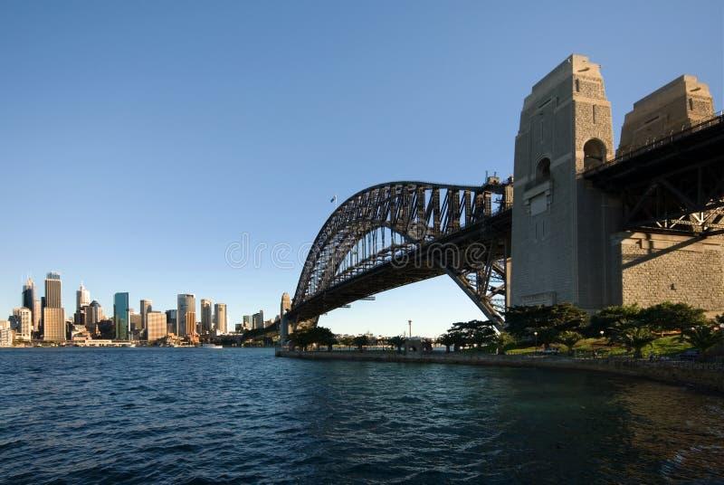 гавань Сидней cbd моста стоковое фото
