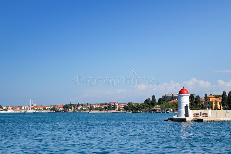 гавань Хорватии города zadar стоковое изображение rf