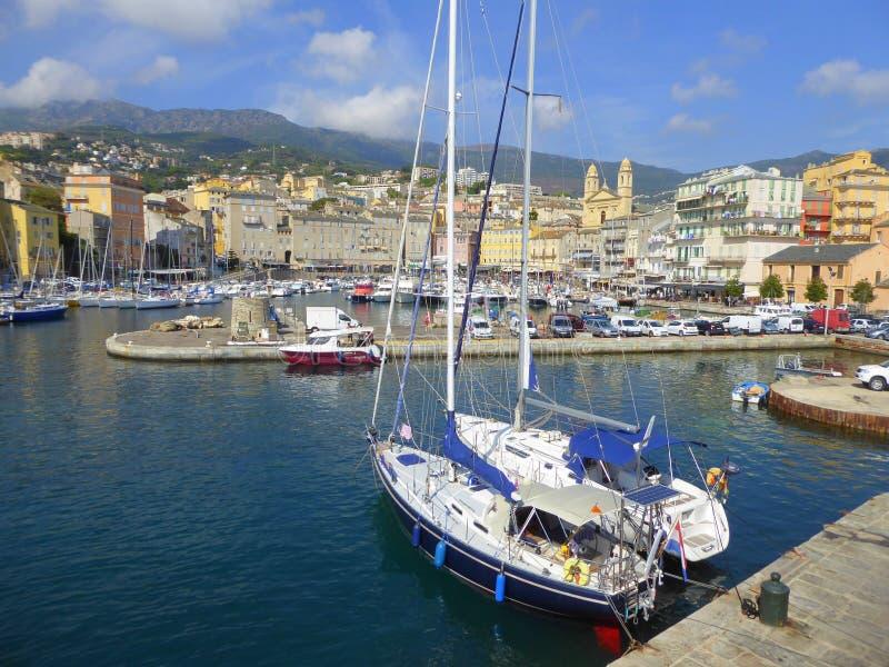 Гавань яхты Bastia стоковая фотография