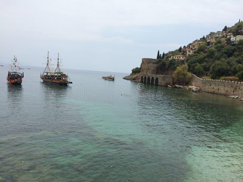 Гавань для кораблей в каменной крепости стоковое фото rf