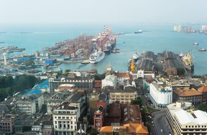 гавань colombo стоковое изображение rf