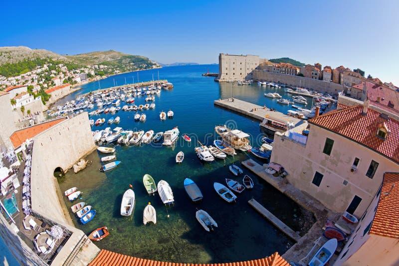 гавань dubrovnik стоковая фотография rf