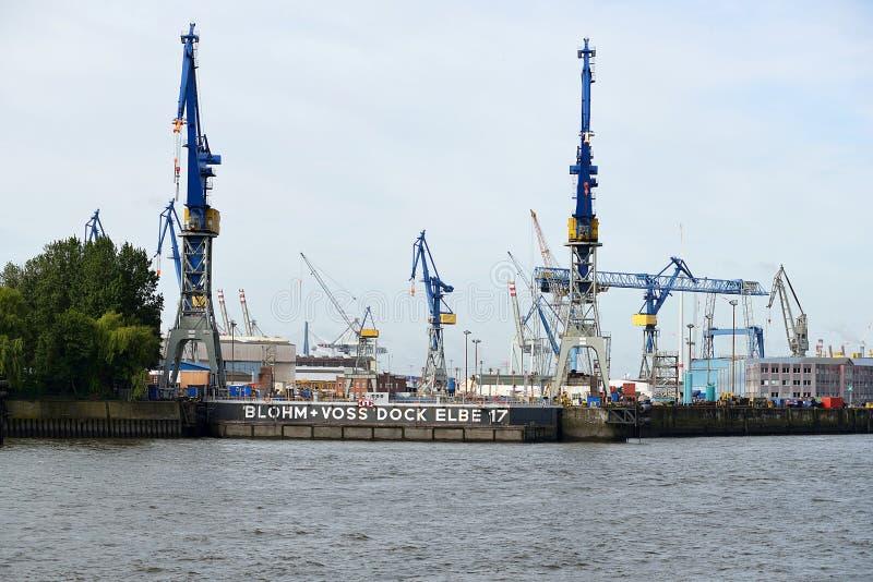 Гавань Hamburgs стоковая фотография rf