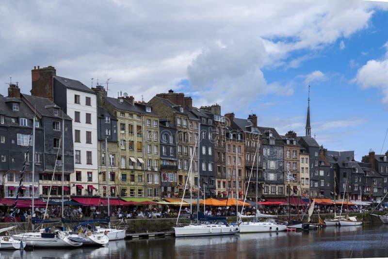 Гавань Honfleur в Кальвадосе Франции Франции стоковое фото