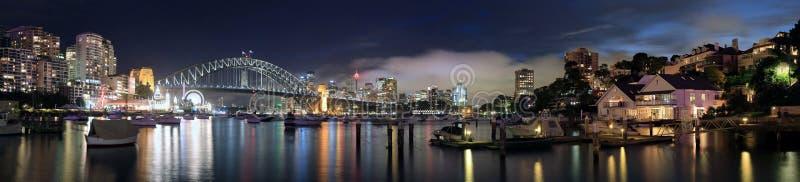 Гавань Pano Сиднея стоковая фотография