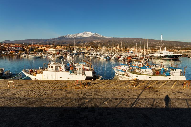 Гавань ` s Riposto, Сицилия стоковая фотография rf