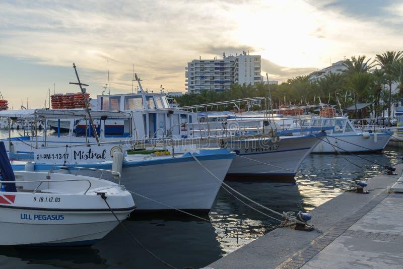 Гавань Sant Antoni de Portmany, Ibiza стоковые фото