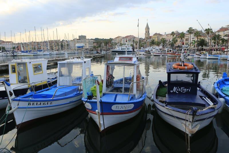 Гавань sur Mer Sanary стоковые изображения