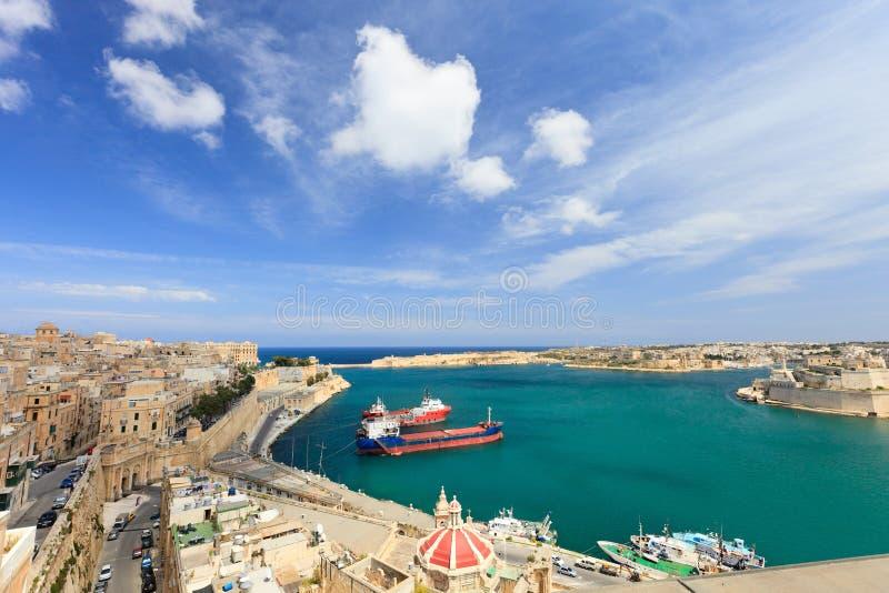 гавань valletta стоковые фотографии rf