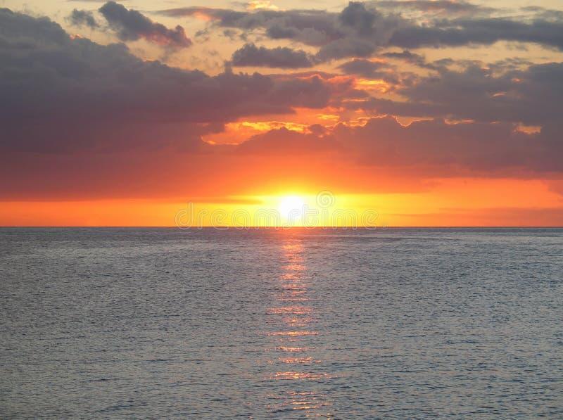 гаван заход солнца стоковые изображения rf