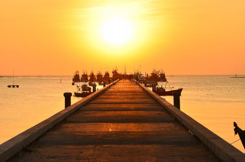 гаван заход солнца стоковое фото rf
