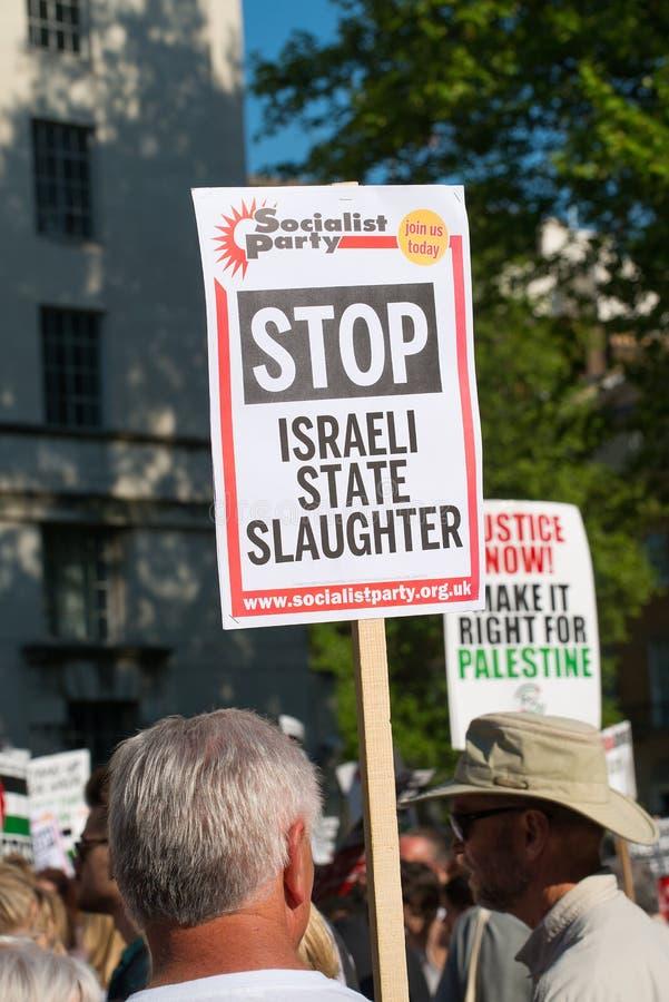 Газа: Остановите митинг протеста бойни в Уайтхолле, Лондоне, Великобритании стоковая фотография rf