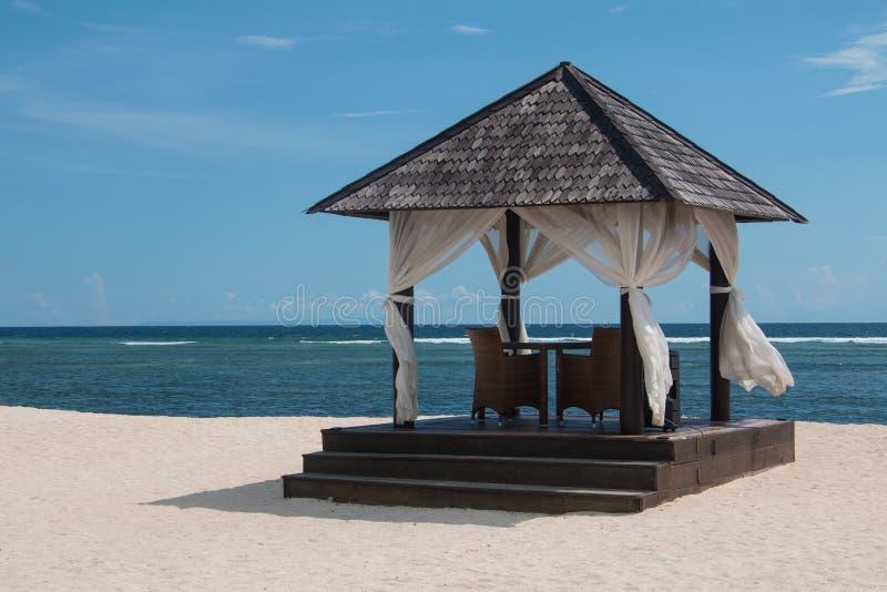 Газебо пляжа стоковое изображение rf