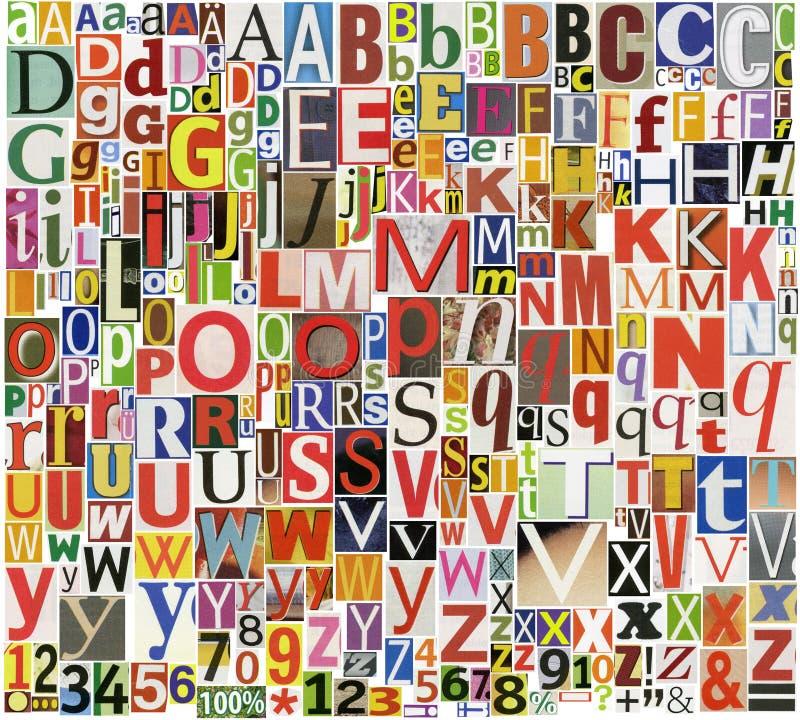 Газета, алфавит кассеты стоковые фотографии rf