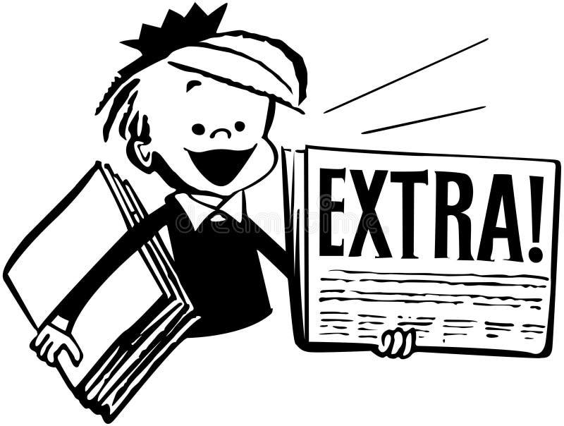 газета мальчика бесплатная иллюстрация