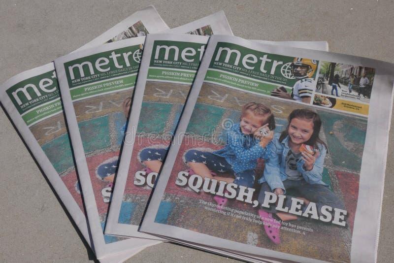 Газета метро стоковое фото rf