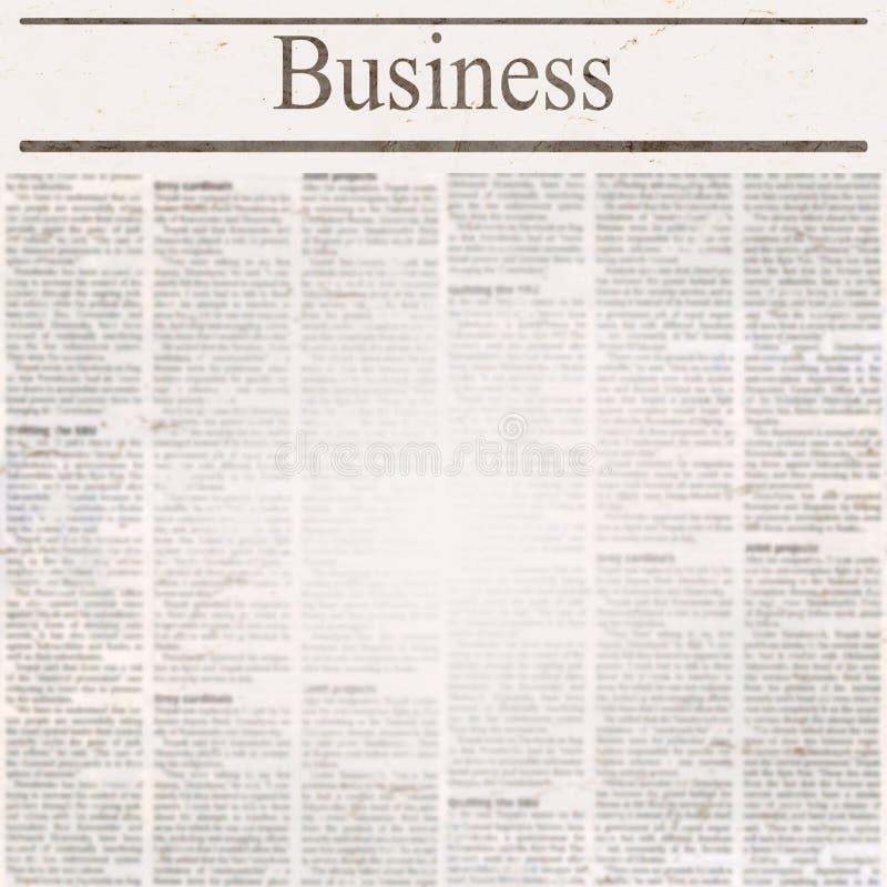 Газета новостей с делом заголовка и старым нечитабельным текстом стоковое изображение