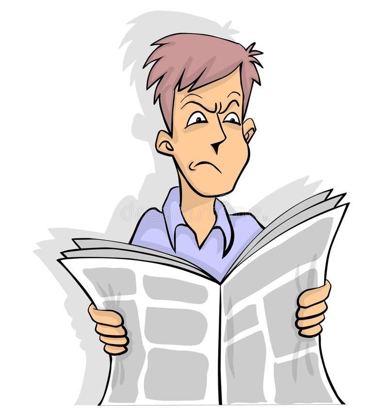 газета плохой новости иллюстрация вектора