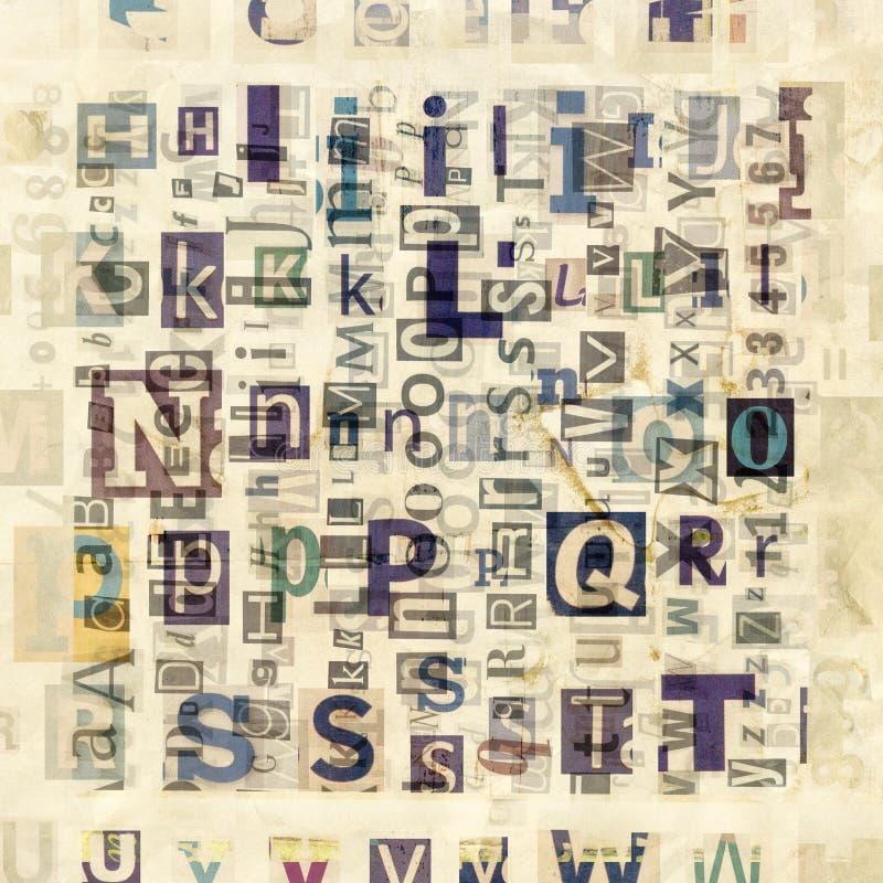 Газета, предпосылка коллажа кассеты стоковые изображения rf