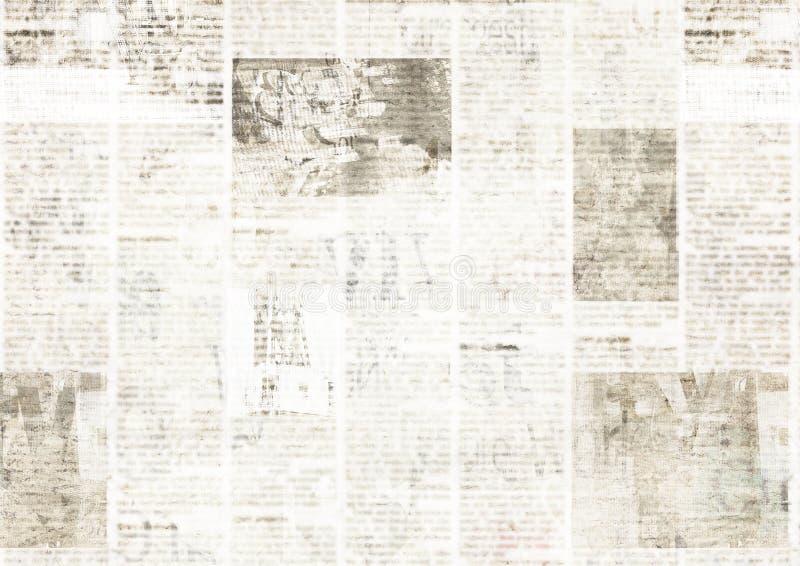 Газета с предпосылкой текстуры старого grunge винтажной нечитабельной бумажной бесплатная иллюстрация